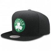 Casquette Boston Celtics Wool Solid Snapback Mitchell&Ness Noir Original