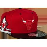 Vente Nouveau Casquette Chicago Bulls Mitchell&Ness Hook 11 snapback Rouge