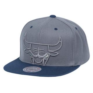 Mode Casquette Chicago Bulls Sneaker Hook Mitchell&Ness Gris
