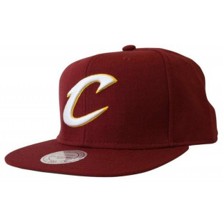 Casquette Cleveland Cavaliers Wool Solid Snapback Mitchell&Ness Rouge Site Officiel France
