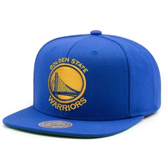 Casquette Golden State Warriors Solid Snapback Mitchell&Ness Bleu Vendre France