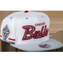 Casquette Katrina 3 Chicago Bulls Mitchell&Ness Snapback Blanc Vendre