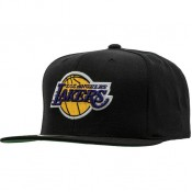 Casquette La Lakers Mitchell&Ness Wool Solid 2 Snapback Noir Vendre Marseille