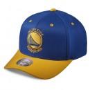 Casquette Mitchell & Ness Team Logo 2-tone 110 Snapback GS Warriors Bleu Rabais en ligne