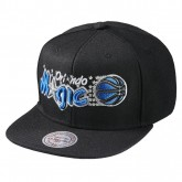 Casquette Mitchell & Ness Wool Solid Snapback Orlando Magic Noir Pas Chère
