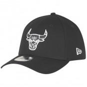 Casquette NBA Monochrome Chicago Bulls New Era Noir Réduction Prix