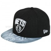Casquette New Era Star Brooklyn Nets noir VIZASKETCH Noir Soldes