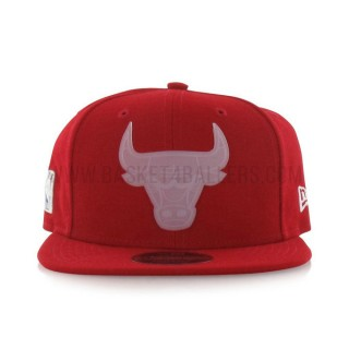 Casquette New Era Transparent Logo 9Fifty Chicago Bulls Rouge En Soldes