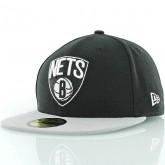 Casquette de basket pour homme New Era Brooklyn Nets noir 10862335 Noir Pas Cher Prix