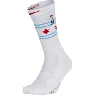 Chaussettes Chicago Bulls City Edition Elite Quick Blanc Ventes Privées