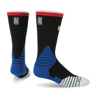 Chaussettes Clippers NBA On Court Logo Crew Stance Bleu Nouvelle