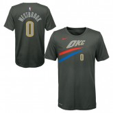 City Edition N&n Tee Ss Thunder Westbrook Russell Nba Bleu à Vendre