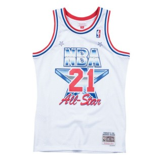 FR Dominique Wilkins 1991 East Swingman Jersey NBA All-Star Blanc