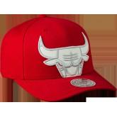 Achat Katrina 3 Chicago Bulls Cropped Strapback Rouge