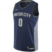 Maillot Andre Drummond City Edition Swingman (detroit Pistons) Bleu En Soldes