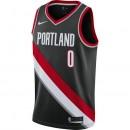 Maillot Damian Lillard Portland Trail Blazers Icon Edition Swingman Noir Soldes France