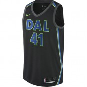 Maillot Dirk Nowitzki City Edition Swingman (dallas Mavericks) Noir Pas Cher Prix