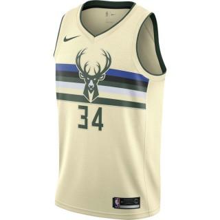 Promotion Maillot Giannis Antetokounmpo Milwaukee Bucks City Edition Swingman Beige / Brun
