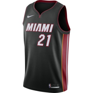 Boutique officielle Maillot Hassanside Miami Heat Icon Edition Swingman Noir