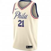 Site Maillot Joel Embiid City Edition Philadelphia 76ers Swingman Blanc pas cher