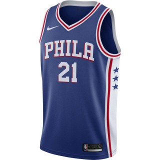 Maillot Joel Embiid Philadelphia 76ers Icon Edition Swingman Bleu Pas Cher Paris