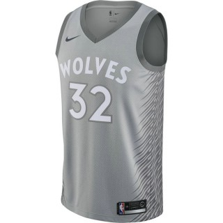 Maillot Karl-anthony Towns City Edition Minnesota Timberwolves Swingman Noir Nouvelle
