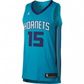 Maillot Kemba Walker Charlotte Hornets authentic Jordan association Bleu en soldes