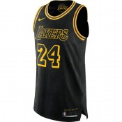 Maillot Kobe Bryant City Edition LA Lakers 24 Authentic Noir Vendre