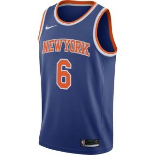 Maillot Kristaps Porziņģis New York Knicks Icon Edition Swingman Bleu Personnalisé
