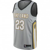 Maillot Lebron James Cleveland Cavaliers City Edition Swingman Gris promotion