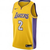 Maillot Lonzo Ball Icon Edition Swingman los Angeles Lakers Jaune Remise Paris en ligne