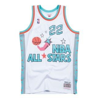 Maillot NBA All-Star Clyde Drexler 1996 West Swingman Mitchell&Ness Blanc Magasin Lyon