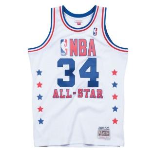 Maillot NBA All-Star Hakeem Olajuwon 1989 West Swingman Mitchell&Ness Blanc Promo Prix Paris