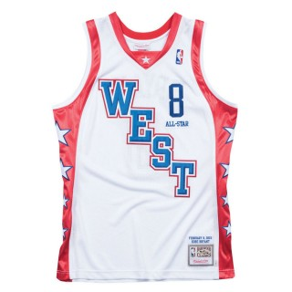 Maillot NBA All-Star Kobe Bryant 2004 West Authentic Mitchell&Ness Blanc Commerce De Gros