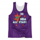 Paris Maillot NBA All-Star Shaquille ONeal 1995 East Reversible Mitchell&Ness Violet
