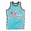 Maillot NBA All-Star Shaquille ONeal 1996 East Swingman Mitchell&Ness Bleu Remise Nice