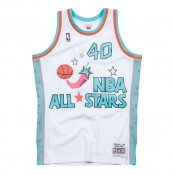 Maillot NBA All-Star Shawn Kemp 1996 West Swingman Mitchell&Ness Blanc à Vendre