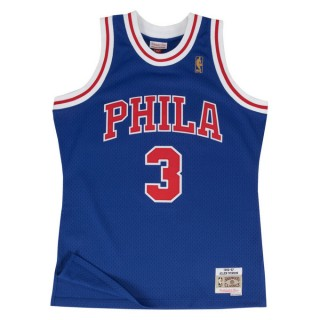 Maillot NBA Allen Iverson Philadelphia 76ers 1996-97 Swingman Mitchell&Ness Bleu Vendre Alsace
