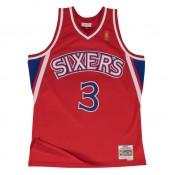 Maillot NBA Allen Iverson Philadelphia 76ers 1996-97 Swingman Mitchell&Ness Rouge en Promo