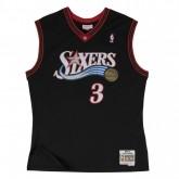 Acheter des Nouveau Maillot NBA Allen Iverson Philadelphia 76ers 2000-01 Swingman Mitchell&Ness Noir