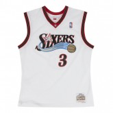 Maillot NBA Allen Iverson Philadelphia 76ers 2000-2001 Swingman Mitchell&Ness Blanc Boutique France