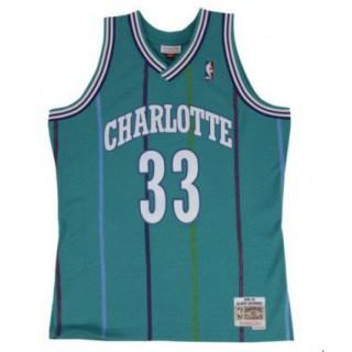 Prix De Maillot NBA Alonzo Mourning Charlotte Hornets Swingman Mitchell&Ness Bleu