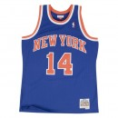 Maillot NBA Anthony Mason New-York Knicks 1991-92 Swingman Mitchell&Ness Royal Bleu Pas Cher Provence
