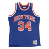 Maillot NBA Charles Oakley New York Knicks 1991-92 Swingman Mitchell&Ness Bleu à Petits Prix