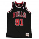 Maillot NBA Dennis Rodman Chicago Bulls 1997-98 Swingman Mitchell&Ness Noir Site Officiel