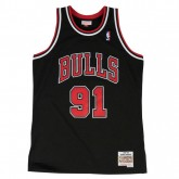 Maillot NBA Dennis Rodman Chicago Bulls 1997-98 Swingman Mitchell&Ness Noir Site Officiel
