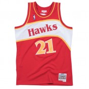 Maillot NBA Dominique Wilkins Atlanta Hawks 1986-87 Swingman Mitchell&Ness Rouge en solde
