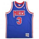 Maillot NBA Dražen Petrović New Jersey Nets 1992-93 Swingman Mitchell&Ness Bleu nouvelle