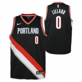 Boutique officielle Maillot NBA Enfant Damian Lillard Portland Trailblazers Swingman Icon Noir