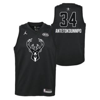 Vente Nouveau Maillot NBA Enfant Giannis Antetokounmpo All Star Swingman Jordan Noir